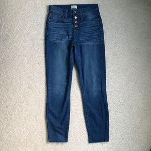 "JCrew Lookout 10"" Highrise Skinny Jeans"